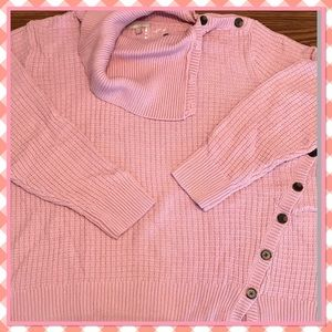 🌸New🌸Mauve Cable Related Turtle Neck Sweater🌸